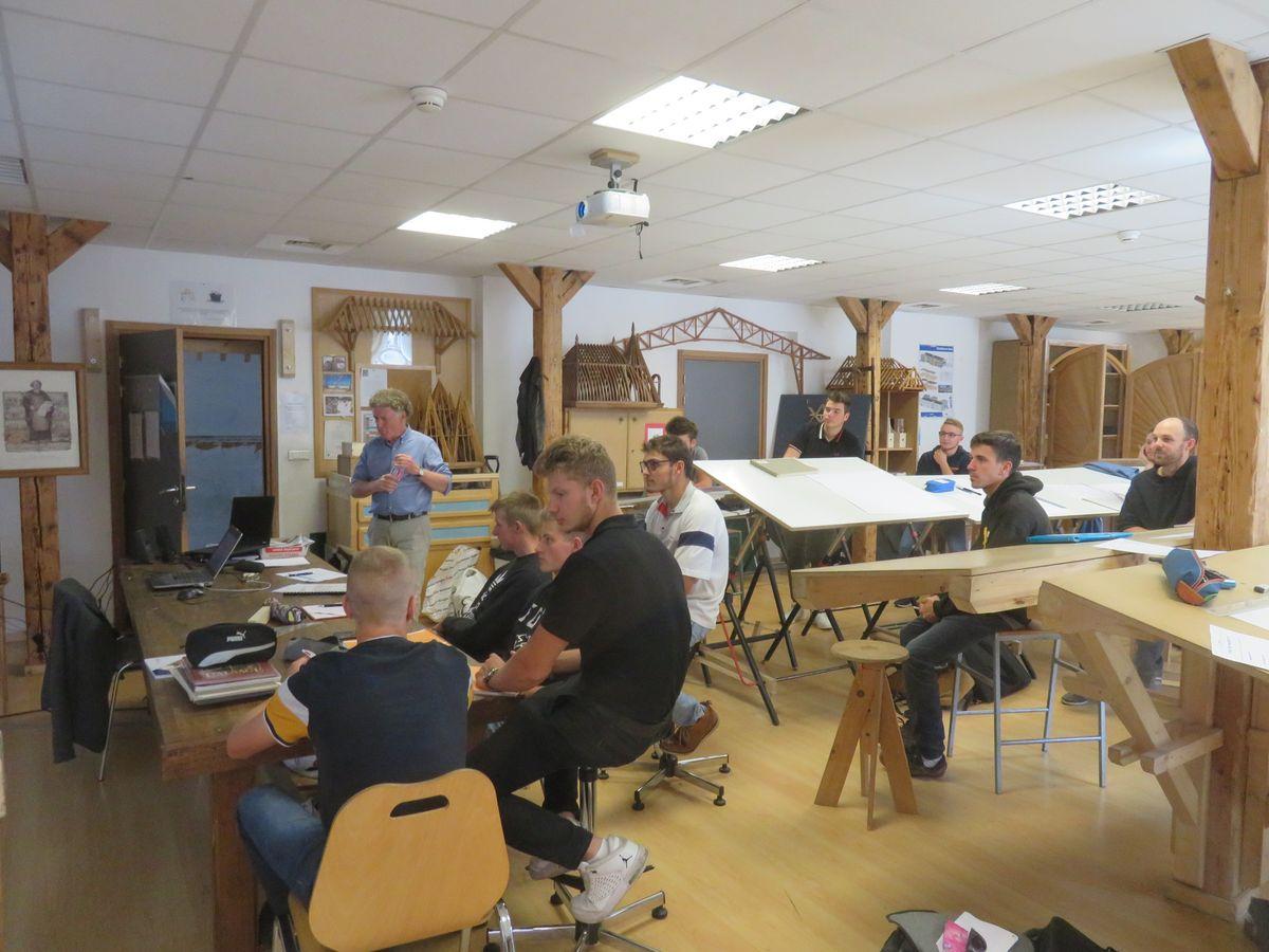 Intervention de l'ASMA auprès des apprentis charpentiers de la Maison des compagnons du Devoir de Strasbourg le 11 septembre 2019