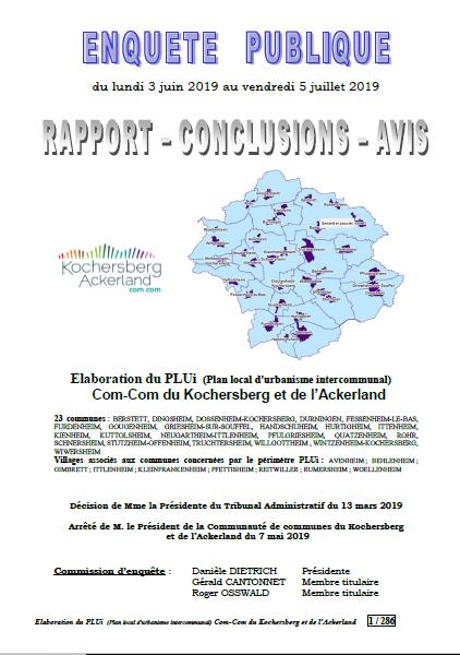 PLUi CoCoKo - Rapport de la comission d'enquête